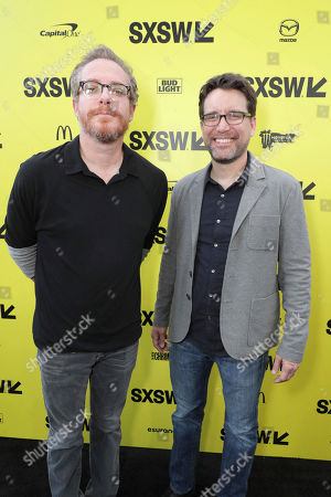 "Writers Paul Wernick and Rhett Reese seen at Columbia Pictures World Premiere of ""Life"" the movie at SXSW 2017, in Austin, TX"