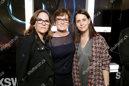 "Producer Dana Goldberg, Producer Bonnie Curtis and Producer Julie Lynn seen at Columbia Pictures World Premiere of ""Life"" the movie at SXSW 2017, in Austin, TX"