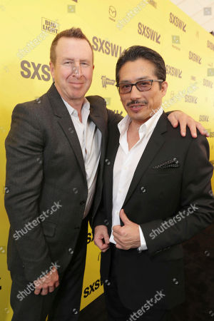 "Jordan Kerner and Hiroyuki Sanada seen at Columbia Pictures World Premiere of ""Life"" the movie at SXSW 2017, in Austin, TX"