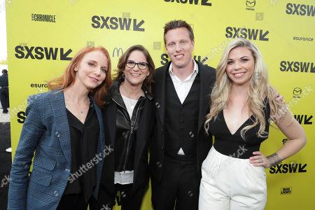 "Lisa Feldsher, Producer Dana Goldberg, Producer David Ellison and Sandra Lynn Modic seen at Columbia Pictures World Premiere of ""Life"" the movie at SXSW 2017, in Austin, TX"