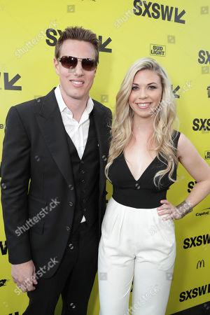 """Producer David Ellison and Sandra Lynn Modic seen at Columbia Pictures World Premiere of """"Life"""" the movie at SXSW 2017, in Austin, TX"""