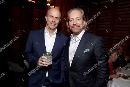 """Producer Neal H. Moritz and Director Morten Tyldum seen at Columbia Pictures World Premiere of """"Passengers"""" at Regency Village Theatre, in Los Angeles"""