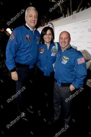 "Astronauts Nicole Stott and Garrett Reisman seen at Columbia Pictures World Premiere of ""Passengers"" at Regency Village Theatre, in Los Angeles"