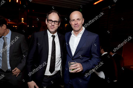 """Sanford Panitch, President of Columbia Pictures, and Producer Neal H. Moritz seen at Columbia Pictures World Premiere of """"Passengers"""" at Regency Village Theatre, in Los Angeles"""