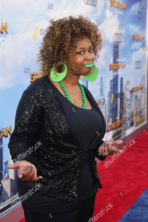 "GloZell seen at Columbia Pictures World Premiere of ""Spider-Man: Homecoming"" at TCL Chinese Theatre, in Hollywood, CA"
