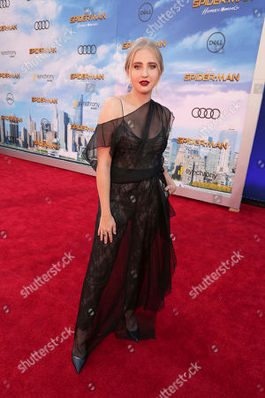 "Veronica Dunne seen at Columbia Pictures World Premiere of ""Spider-Man: Homecoming"" at TCL Chinese Theatre, in Hollywood, CA"