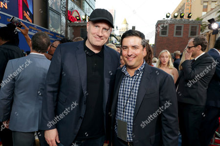 """Executive Producer Kevin Feige, President of Marvel Studios, and Josh Greenstein, President, Sony Pictures Worldwide Marketing & Distribution, seen at Columbia Pictures World Premiere of """"Spider-Man: Homecoming"""" at TCL Chinese Theatre, in Hollywood, CA"""