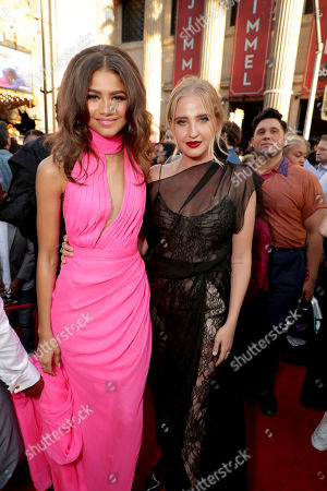 "Zendaya and Veronica Dunne seen at Columbia Pictures World Premiere of ""Spider-Man: Homecoming"" at TCL Chinese Theatre, in Hollywood, CA"