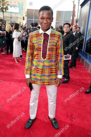 """Abraham Attah seen at Columbia Pictures World Premiere of """"Spider-Man: Homecoming"""" at TCL Chinese Theatre, in Hollywood, CA"""
