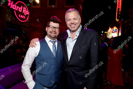"""Stock Image of Co-Producer Eric Hauserman Carroll and Screenwriter Chris McKenna seen at Columbia Pictures World Premiere of """"Spider-Man: Homecoming"""" after party, in Hollywood, CA"""