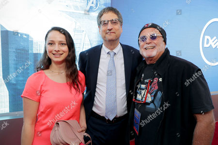 """Stock Picture of Nora Rothman, Tom Rothman, Chairman, Sony Pictures Motion Picture Group, and Executive Producer Avi Arad seen at Columbia Pictures World Premiere of """"Spider-Man: Homecoming"""" at TCL Chinese Theatre, in Hollywood, CA"""