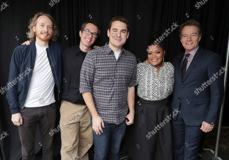 Exclusive - Creator/Exec. Producer Zeb Wells, Creator/Exec. Producer Matthew Senriech, Tucker Gilmore, Yvette Nicole Brown and Bryan Cranston seen at Crackle 2017 Winter TCA at The Langham Huntington Hotel, in Pasadena, Calif