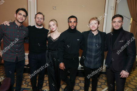 Exclusive - Luke Pasqualino, Creator Alex De Rakoff, Phoebe Dynevor, Lucien Laviscount, Rupert Grint and Ed Westwick seen at Crackle 2017 Winter TCA at The Langham Huntington Hotel, in Pasadena, Calif