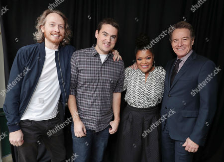 Exclusive - Creator/Exec. Producer Zeb Wells, Tucker Gilmore, Yvette Nicole Brown and Bryan Cranston seen at Crackle 2017 Winter TCA at The Langham Huntington Hotel, in Pasadena, Calif