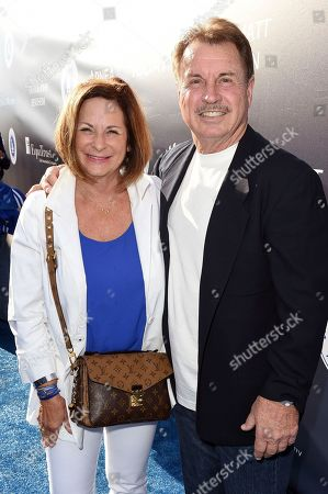 Stock Picture of Ron Cey, right, and guest arrive at the Los Angeles Dodgers Foundation Blue Diamond Gala 2017 at Dodgers Stadium, in Los Angeles