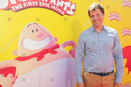 """Writer Nicholas Stoller seen at DreamWorks Animation and Twentieth Century Fox """"Captain Underpants: The First Epic Movie"""" Los Angeles Premiere at Regency Village Theater, in Los Angels"""