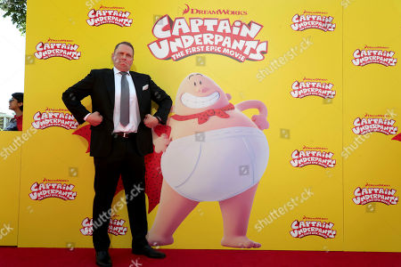 """Author Dav Pilkey seen at DreamWorks Animation and Twentieth Century Fox """"Captain Underpants: The First Epic Movie"""" Los Angeles Premiere at Regency Village Theater, in Los Angels"""