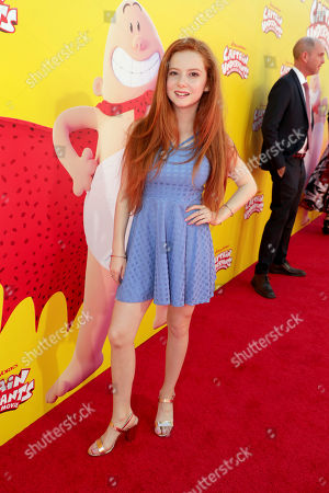 "Francesca Capaldi seen at DreamWorks Animation and Twentieth Century Fox ""Captain Underpants: The First Epic Movie"" Los Angeles Premiere at Regency Village Theater, in Los Angels"