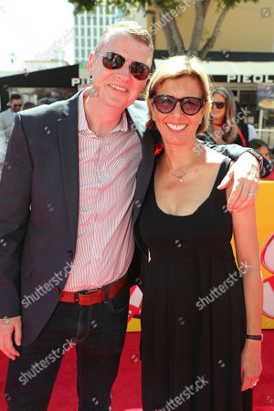 """Producer Mark Swift and Mireille Soria, Co-President of Feature Animation at DreamWorks Animation, seen at DreamWorks Animation and Twentieth Century Fox """"Captain Underpants: The First Epic Movie"""" Los Angeles Premiere at Regency Village Theater, in Los Angels"""