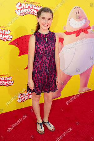 """Hadley Belle Miller seen at DreamWorks Animation and Twentieth Century Fox """"Captain Underpants: The First Epic Movie"""" Los Angeles Premiere at Regency Village Theater, in Los Angels"""