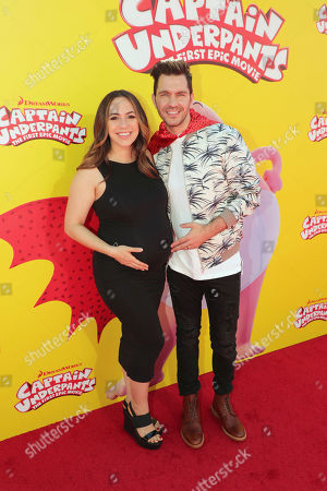 """Aijia Lise and Andy Grammer seen at DreamWorks Animation and Twentieth Century Fox """"Captain Underpants: The First Epic Movie"""" Los Angeles Premiere at Regency Village Theater, in Los Angels"""