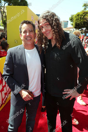 """Stock Photo of Chris DeFaria, President, DreamWorks Feature Animation Group, and """"Weird Al"""" Yankovic seen at DreamWorks Animation and Twentieth Century Fox """"Captain Underpants: The First Epic Movie"""" Los Angeles Premiere at Regency Village Theater, in Los Angels"""