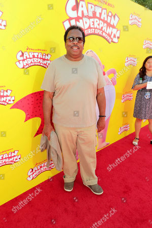 "Leslie David Baker seen at DreamWorks Animation and Twentieth Century Fox ""Captain Underpants: The First Epic Movie"" Los Angeles Premiere at Regency Village Theater, in Los Angels"