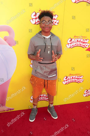 """Stock Picture of Marleik Mar Mar Walker seen at DreamWorks Animation and Twentieth Century Fox """"Captain Underpants: The First Epic Movie"""" Los Angeles Premiere at Regency Village Theater, in Los Angels"""