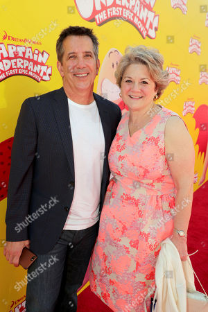 """Chris DeFaria, President, DreamWorks Feature Animation Group, and Bonnie Arnold, DreamWorks President, Feature Animation, seen at DreamWorks Animation and Twentieth Century Fox """"Captain Underpants: The First Epic Movie"""" Los Angeles Premiere at Regency Village Theater, in Los Angels"""