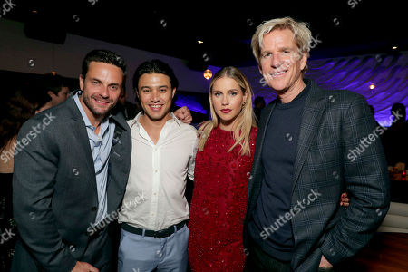 """Chris Johnson, Yani Gellman, Claire Holt and Matthew Modine seen at Entertainment Studios Motion Pictures """"47 Meters Down"""" Los Angeles Premiere after party, in Los Angeles"""
