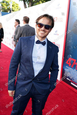 """Stock Image of Writer Ernest Riera seen at Entertainment Studios Motion Pictures """"47 Meters Down"""" Los Angeles Premiere at Regency Village Theatre, in Los Angeles"""