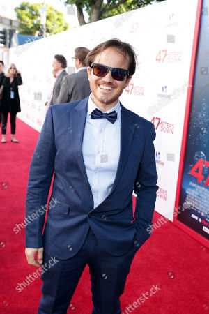 """Writer Ernest Riera seen at Entertainment Studios Motion Pictures """"47 Meters Down"""" Los Angeles Premiere at Regency Village Theatre, in Los Angeles"""