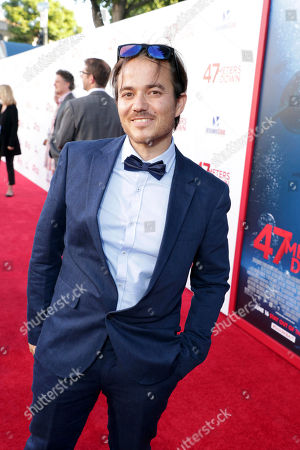 """Stock Picture of Writer Ernest Riera seen at Entertainment Studios Motion Pictures """"47 Meters Down"""" Los Angeles Premiere at Regency Village Theatre, in Los Angeles"""