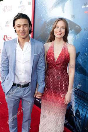"""Stock Picture of Yani Gellman and guest seen at Entertainment Studios Motion Pictures """"47 Meters Down"""" Los Angeles Premiere at Regency Village Theatre, in Los Angeles"""