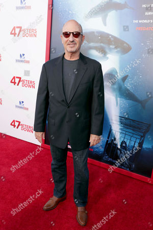 """Producer Mark Borde seen at Entertainment Studios Motion Pictures """"47 Meters Down"""" Los Angeles Premiere at Regency Village Theatre, in Los Angeles"""
