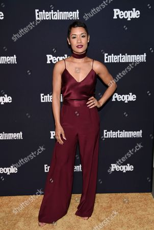 Actress Grace Byers attends the Entertainment Weekly and People Magazine New York Upfronts celebration at Second Floor, in New York