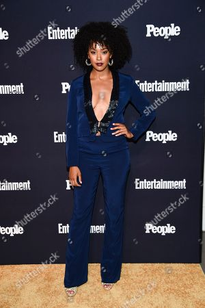 Corbin Reid attends the Entertainment Weekly and People Magazine New York Upfronts celebration at Second Floor, in New York