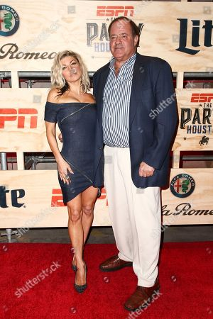 Fergie, left, and Chris Berman attend ESPN: The Party 2017 held, in Houston, Texas