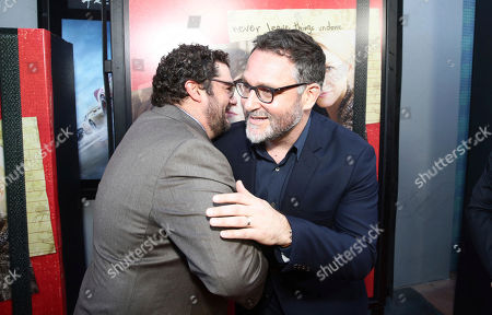 "Stock Image of Bobby Moynihan and Director Colin Trevorrow seen at Focus Features ""The Book of Henry"" Premiere at 2017 Los Angeles Film Festival, in Culver City, Calif"