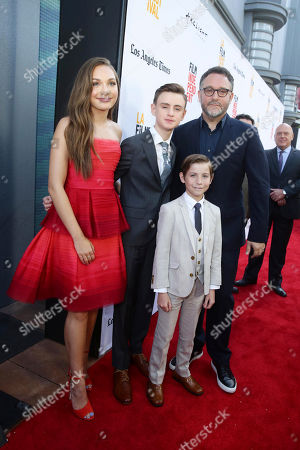 "Maddie Ziegler, Jaeden Lieberher, Jacob Tremblay and Director Colin Trevorrow seen at Focus Features ""The Book of Henry"" Premiere at 2017 Los Angeles Film Festival, in Culver City, Calif"