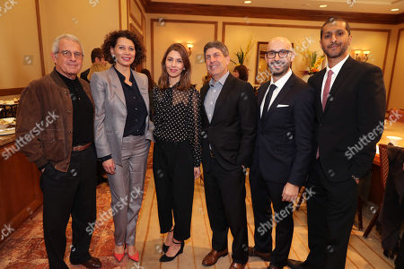 Ronald Meyer, Vice Chairman of NBCUniversal, Donna Langley, Chairman of Universal Pictures, Writer/Director Sofia Coppola, Jeff Shell, Chairman of Universal Filmed Entertainment Group, Peter Kujawski, Chairman of Focus Features, and Abhijay Prakash, Chief Operating Officer of Focus Features, seen at Focus Features: Celebrating 15 Years and a Bright Future at 2017 CinemaCon, in Las Vegas