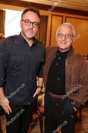 Director Colin Trevorrow and Ronald Meyer, Vice Chairman of NBCUniversal, seen at Focus Features: Celebrating 15 Years and a Bright Future at 2017 CinemaCon, in Las Vegas