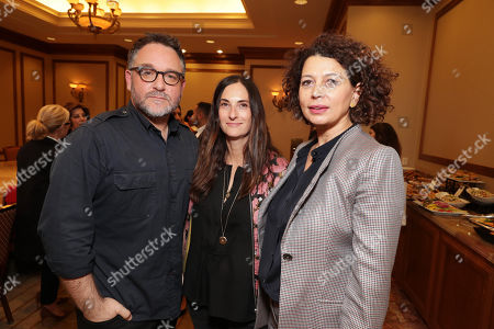 Director Colin Trevorrow, Producer Carla Hacken and Donna Langley, Chairman of Universal Pictures, seen at Focus Features: Celebrating 15 Years and a Bright Future at 2017 CinemaCon, in Las Vegas