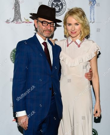 Stock Image of Actors Fisher Stevens, left, and Naomi Watts attend the Fourth Annual Turtle Ball at the Bowery Hotel, in New York