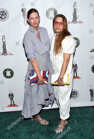 Stock Image of Fashion designer Jenna Lyons, left, and Courtney Crangi attend the Turtle Ball at the Bowery Hotel, in New York