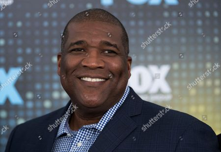 Curt Menefee attends the FOX Network Group 2017 Upfront post-party at Wollman Rink in Central Park, in New York