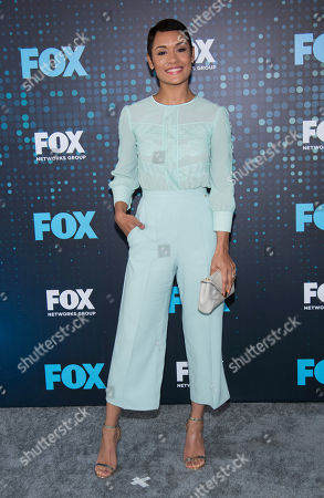 Grace Byers attends the FOX Network Group 2017 Upfront post-party at Wollman Rink in Central Park, in New York