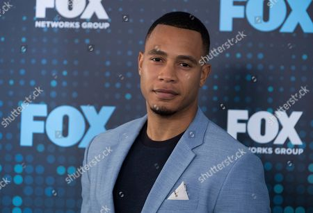 Trai Byers attends the FOX Network Group 2017 Upfront post-party at Wollman Rink in Central Park, in New York