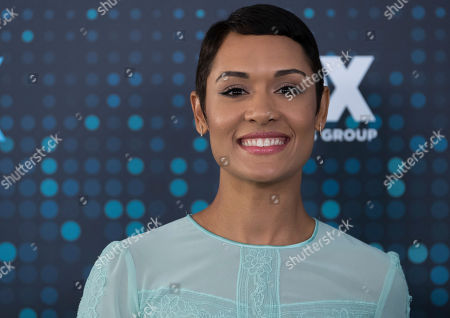 Stock Image of Grace Byers attends the FOX Network Group 2017 Upfront post-party at Wollman Rink in Central Park, in New York