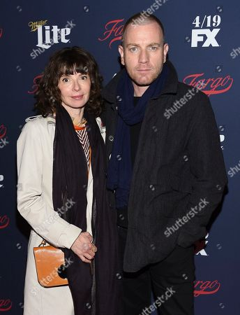 Actor Ewan McGregor and wife Eve Mavrakis attend FX's 2017 All-Star Upfront event at the SVA Theatre, in New York
